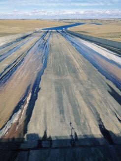 drain of a water reservoir, Saskatchewan, Canada - SEF000451