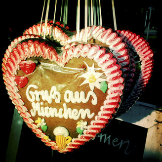 Gingerbread Heart, Greetings from Munich, Munich, Bavaria, Germany - GSF000707
