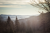 Germany, Bavaria, View from Grosser Arber above Bavarian Forest - SBDF000430