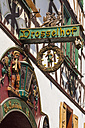 Germany, Hesse, Ruedesheim, old town, Drosselgasse, Drosselhof, sign, wine bar - WD002214