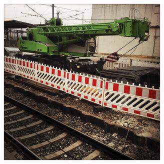 Construction crane, construction, S-Bahn station Donnersbergerbruecke, Munich, Bavaria, Germany - GS000742