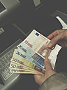 Withdrawing money at the ATM, Germany - CSF020630
