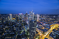 Germany, Hesse, Frankfurt, cityscape at night - TI000015