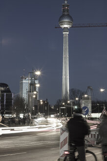 Germany, Berlin, Mitte, TV Tower at Alexanderplatz at night - CM000033