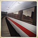 ICE train with reflections of buildings, Berlin, Germany - ZM000111
