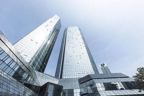Germany, Hesse, Frankfurt, Deutsche Bank Twin Towers - AM001675