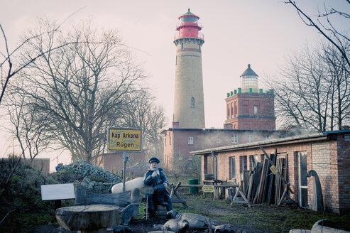 Germany, Mecklenburg-Western Pomerania, Ruegen, Lighthouse at Cape Arkona - MJ000619