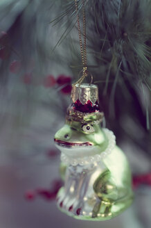 Frog figurine in Christmas tree - MJF000607