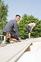 Construction of a residential house, assembling of the roof - FKF000377