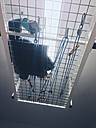 Mix of physiotheraphy devices hanging from ceiling, Bonn, North Rhine-Westphalia, Germany - MFF000802