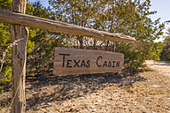 USA, Texas, wooden sign