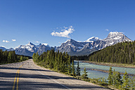 Canada, Alberta, Jasper National Park, Banff National Park, Icefields Parkway along Athabasca River - FOF005663