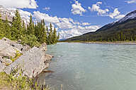 Canada, Alberta, Jasper National Park, Banff National Park, Icefields Parkway, view of river - FOF005711