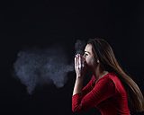 Young woman sneezing - BFRF000331