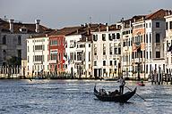Italy, Venice, Gondola on Canale Grande - FO005806