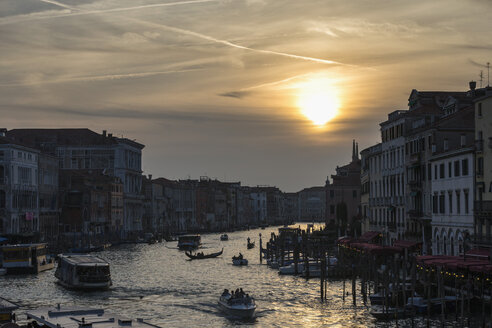 Italy, Venice, Canale Grande at sunset - FOF005813