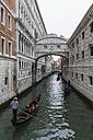Italy, Venice, Gondolas at Bridge of Sighs - FO005945