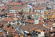 Italy, Venice, View from Campanile on house roofs - FOF005921