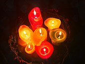 Seven candles, Germany, Baden-Wuerttemberg, Constance - JEDF000121