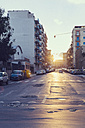 Italy, Sicily, Palermo, Street view at sunset - MF000809