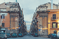 Italy, Sicily, Palermo, Street view in evening light - MF000829