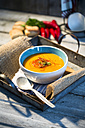 Carrot soup with chilli threads - MAEF007666