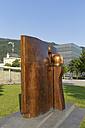 Austria, Vorarlberg, Bregenz, bronze sculpure 'Hommage an Brigantium' by sculptor Herbert Albrecht - SIE005006