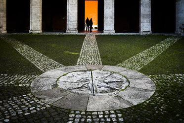 Italy, Rome, view to courtyard of Sant Ivo alla Sapienza - DIS000470