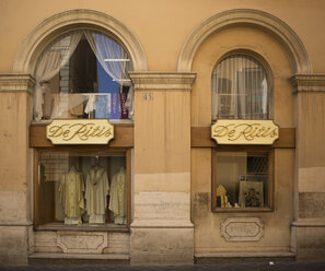 Italy, Rome, view to windows of shop which sells clothing for priests - DIS000425