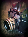 old analogue camera, EXA with Meritar 2,9/50 lens, studio - HOH000397