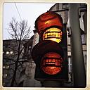 Warning signal on pedestrial crossing of tramline, rail Bielelefeld, Germany - ZM000174
