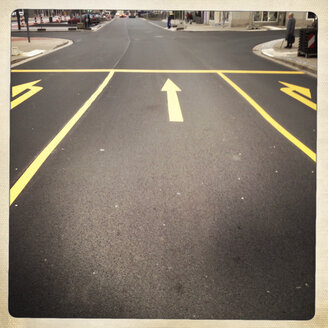 Temporary road markings, Bielefeld, Germany - ZMF000171
