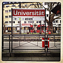 Tram stop at University of Cologne, Cologne, Germany - ZM000141