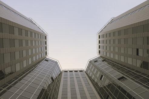 Germany, North Rhine-Westphalia, Essen, view to skyscrapers from below - ZMF000167