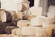 Italy, Tuscany, San Quirico d'Orcia, Assortment of cheese - MJ000841