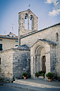 Italy, Tuscany, San Quirico d'Orcia, Bell tower - MJF000847