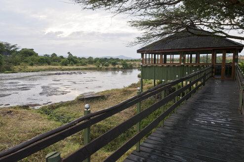 Kenya, Rift Valley, Maasai Mara National Reserve, Hippo Pool at Keekorok Lodge - CB000199
