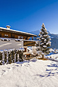Switzerland, Graubuenden, Salouf, holiday chalet, ski hut - WDF002270