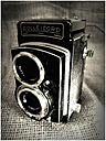 old analogue camera, Rolleicord with Scheifer-Kreuznach Xenar 3,2/75, studio - HOH000418