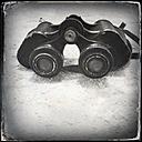 Old fashioned German binoculars with digital wet plate filter effect - JAWF000005