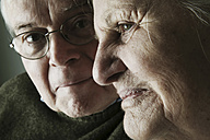 Portrait of senior couple, close-up - JATF000649