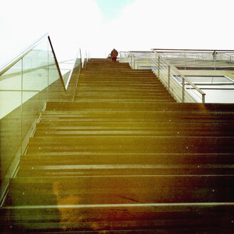 Stairs to the roof of the building Dockland at river Elbe, Hamburg, Germany - SE000539