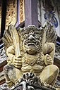 Indonesia, Bali, Batuan Temple, view to statue of Hindu god, close-up - KRP000235