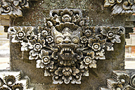 Indonesia, Bali, Batuan Temple, view to sculpture of Hindu god, close-up - KRP000237