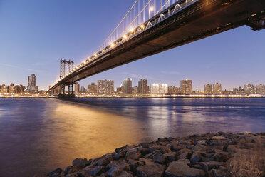 USA, New York City, Manhattan Bridge - MFF000869