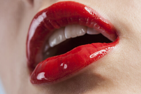 Woman's lips with red lipstick - EGF000089