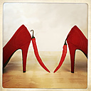 Red Pumps with chilli, Studio, Freiburg, Germany - DRF000490
