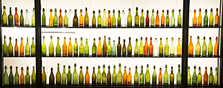 Germany, three rows of beer bottles - WG000227