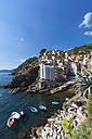 Italy, Cinque Terre, La Spezia Province, Liguria, Riomaggiore, coast, fishing village - AMF001800