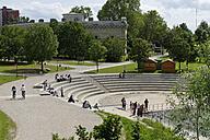 Germany, Bavaria, Ingolstadt Klenzepark with Reduit Tilly - LB000543